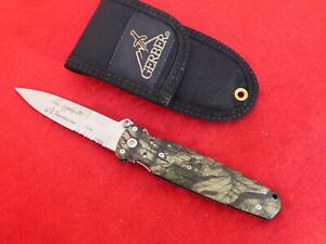 Gerber Applegate Fairbairn 154CM Camo mint knife & sheath