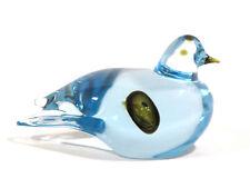 Wunderschöne Glas Figur Ente aus blass blauem Glas  Paperweight