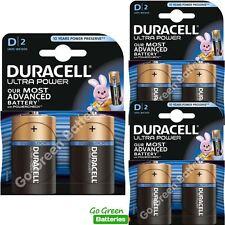 6 x Duracell D Size Ultra Power Alkaline Batteries Duralock (LR20, MN1300, Mono)