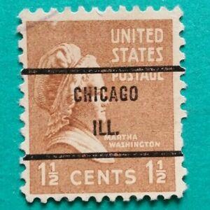 1 1/2 cent Martha Washington Issue, Precancel, Chicago ILL.. Stamp Used