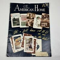 Vtg March 1940 THE AMERICAN HOME Magazine Home Design DIY Nash Plymouth Marlboro