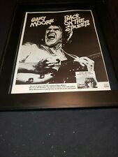 Gary Moore Back On The Streets Rare Original Promo Poster Ad Framed!