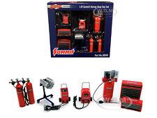 """Summit Racing Equipment"" Shop Tool Set Of 7 Pcs 1/18 Diecast Models Gmp 18940"