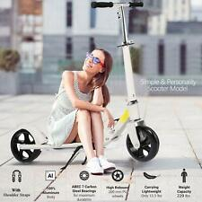 ANCHEER Adult Kick Scooter Foldable 3 Levels Adjustable Height 2 Big Wheels New