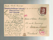 1944 Germany Buchenwald Lahneck Concentration Sub Camp Cover KZ to France