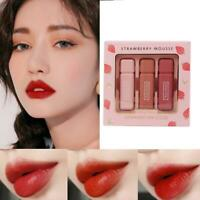 3Pcs Long-lasting lipstick lip gloss moisturizing liquid lip glaze lipstick