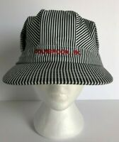 Vintage Hat Cranbrook BC Train Engineer Conductor Hat Cap Pin Stripe Railroad