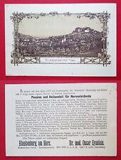 Vorläufer Litho Reklame Karte BLANKENBURG am Harz Pension und Heilanstalt( 24878