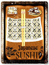 Japanese sushi METAL sign / great GIFT vintage antique style wall decor art 306
