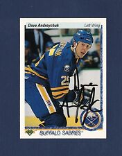 Dave Andreychuk signed Buffalo Sabres 1990-91 Upper Deck hockey card