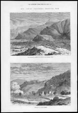 1878 Antique Print - INDIA WAR Jowakis Surgosha Ridge Expedition  (174)