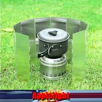 Camping Stove Windscreen 8/9/10 Plates Folding Camp Stove Portable Windshield