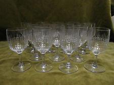 16 verres à porto cristal Baccarat mod Nancy (baccarat cherry-porto glasses)