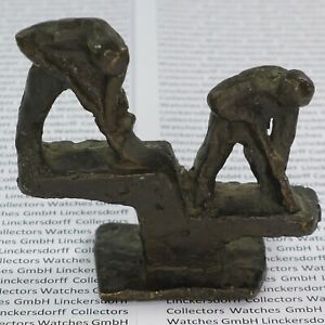 Bronze Bauarbeiter / Handwerker  20. Jh - H. 8,5 cm