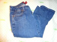$54 Twenty one Juniors stress medium blue wash slim leg jeans measured 28/31
