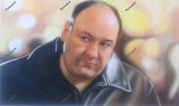Tony Soprano Oil Painting Portrait Original Hand-Painted Art Canvas NOT a Print