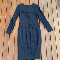 TY-LR Size S Dress Straight Long Sleeves Cocktail Business Black - Tap Shoe