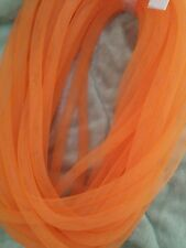 Orange Cyberlox Tubular Crin Mesh Tubing Hair Falls noodles Deco 13 yards 5/8""