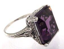 Anelli di lusso con gemme ametista , Misura anello 18