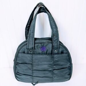 Gaiam Gray/Purple Zipper Yoga Tote Bag Bungee Bottom Workout Exercise Gym