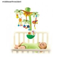 Mobile Baby Infant Crib Nursery Musical Lullaby Motion Nature Light Up Remote