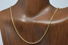 1.8 mm 18 in Long Rope Chain in 14k SOLID Yellow Gold Best Quality Brand Ma
