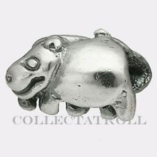 Authentic TrollBeads Silver Hippopotamus Trollbead RETIRED 11215
