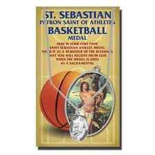 St. Sebastian Basketball Medal Necklace, plus a Free Prayer Card