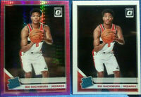 Rui Hachimura 2019-20 Donruss Optic Rated Rookie Hyper Pink Prizm SP & Base RC
