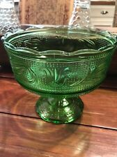 E.O. BRODY CO. GREEN DECORATIVE PEDESTAL  BOWL/ DISH CLEVELAND OHIO # M6000