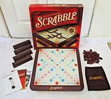 2001 Deluxe Turntable Scrabble By Parker Brothers-Wood Tiles-Nice-Complete