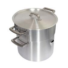 Ground Base Double Boiler Aluminium & Lid 22 Pt /12.6 L Pan Steamer Porringer