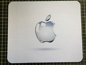 MOUSEMAT MOUSEPAD CLEAR APPLE effect printed compatible with Mac iMac MacBook