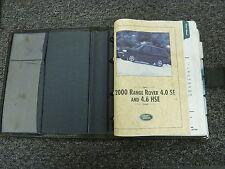 2000 Land Rover Range Rover SUV Owner Manual User Guide Book 4.0 SE 4.6 HSE V8
