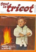 Revue de mode Catalogue de tricot - Tout le Tricot n°110 - 1975 - Layette enfant