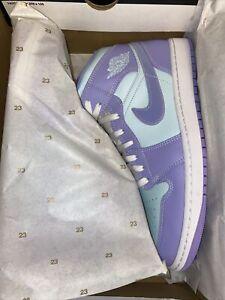 Nike Air Jordan 1 Mid Purple Pulse/Arctic Punch 554724-500 Men's 12, New In Box.