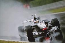 MIKA HAKKINEN Mano Firmata West McLaren Mercedes 12x8 FOTO F1.