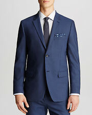 NEW $595 Theory Men's Blue Wellar Tovare Sport Coat - Slim Fit  [SZ 36 R] #M343