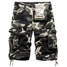 Mens Casual Military Army Cargo Camo Combat Solid Work Shorts Hot Pants Trousers