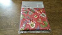 "Ellen Blomma Square Pillowcase 100% COTTON 26 x 26"" IKEA NEW IN THE PACKAGE RED"