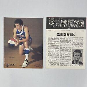 1975 ABA Championship Playoffs Utah Stars Denver Nuggets Game Program W/ Insert
