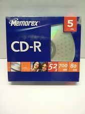 New Memorex 5PK 5 Recordable CD-R up to 52x 700MB 80 min