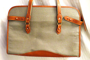 OLIVE TAN FAUX LEATHER BIG 3 SECTION TOTE LAPTOP BRIEFCASE HANDBAG