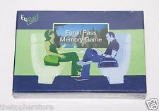 Eurail Pass Memory Board Travel Game - NEW - Euro,Trains, France, England, Fun