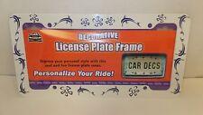 Decorative License Plate Frame, Surfer Girl, Dolphin (LP00664)