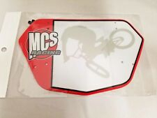 MCS NUMBER PLATE BMX PRO RED