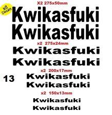 SET OF 8x KWIKASFUKI FUNNY GRAPHICS VINYL DECAL BIKE, VAN, TRALOR, BOAT CAR