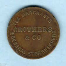 Australia Token.   Crothers 1/2d..  Stawell Victoria..   VF