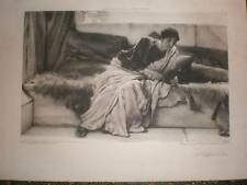 A Difficult Line Lawrence Alma-Tadema print 1899