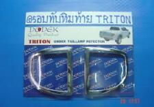 CHROME REAR REFLECTOR TRIM COVER FOR MITSUBISHI L200 ANIMAL TRITON 2005-2012